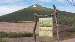 Entrance to the Mission Garden near Sentinel  Peak